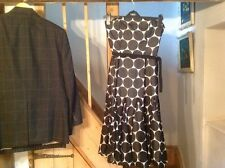 Coast Party  White Dress Black Spots Size 8 To 10 Strapless