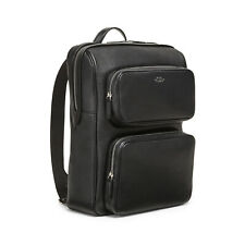 Smythson Ludlow Organiser Backpack Black Grained Calf Leather - BNWT, RRP £1095