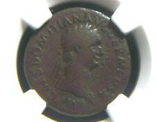 AE As of Roman Emperor Domitian, Alter reverse SALVTI AVGVSTI NGC Certified 3029
