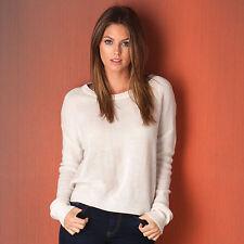 Damen-Pullover mit U-Ausschnitt aus Acryl