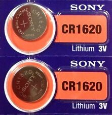 2 New SONY CR1620 3v Battery MADE in JAPAN Fast Post