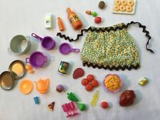 Barbie Doll Accessories Food And Dishes Lot