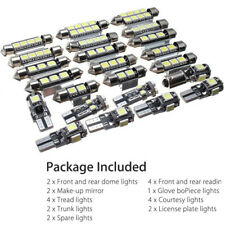 23PCS/set Auto Inside White LED Light Dome Truck Mirror License Plate Lamp Bulbs