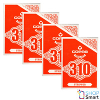 4 COPAG 310 STRIPPER POKER PLAYING CARDS DECK TRICK PAPER STANDARD INDEX RED NEW