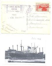 NEDERLAND-FRANCE  S.M.N. 1947 AK=S.S.ROEPAT = = DOC...  F/VF