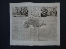 1718 CHATELAIN Atlas map  ENGLAND & LONDON - Plan Ville de Londres  D'Angleterre