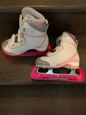 """""""pre Owned� Riedell Girl Ice Skates Size 12 White Good Condition"""
