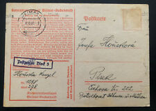 1941 Germany Buchenwald Concentration Camp Postcard Cover Wenzel Honska