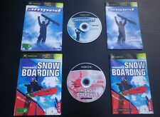 LOT 2 JEUX  Microsoft XBOX AMPED + TRANSWORLD SNOWBOARDING (sports COMPLET)