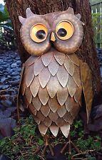 Feathered Owl Metal Small Garden Ornament Vivid Arts £14.99