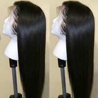 Silky Straight Lace Front Human Hair Wigs Brazilian Real Hair Full Lace Wig Long