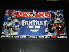 MONOPOLY MY FANTASY FOOTBALL PLAYERS EDITION PARKER BROS. 2007 FACTORY SEALED