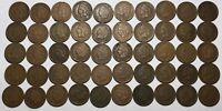 Complete Roll of 50 1908 Indian Head Cents Pennies Solid Good+ FREE SHIPPING!