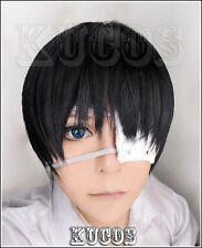 Halloween Wig Hair Cosplay Costume Tokyo Ghoul Ken Kaneki Short black Anime