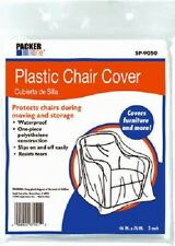 """Schwarz 4 Pack, 46"""" x 76"""", Packer One Plastic Chair Covers"""