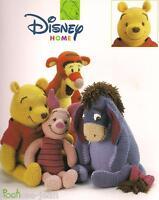 Disney pooh friends character dolls crochet pattern booklet piglet eyeore tigger
