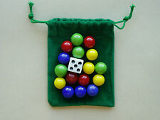 REPLACEMENT GAME MARBLES AND DICE 4 player 9/16 inch