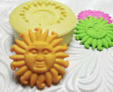 SUN FACE MOLD Silicone Resin Polymer Clay Fondant Flexible Push Mould