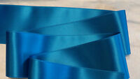 "2-3/4"" WIDE SWISS DOUBLE FACE SATIN RIBBON  - CARRIBBEAN BLUE"