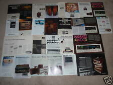 Marantz Ad Archive on CD,27 Ads, Reviews, Brochures, Info, Amplifier, Preamp