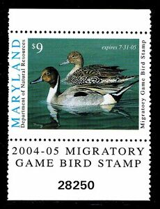 2004 MARYLAND DUCK STAMP - MD-31- MOGNH - VF/XF (ESP STOCK)