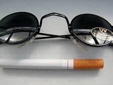Runde Sonnenbrille Nickelbrille Große Gläser Verspiegelt Oversize Gold Grün B11