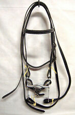 WESTERN PONY BROWBAND BRIDLE BLACK NEW HORSE TACK