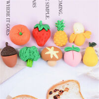 20 pcs Matte Resin Fruits and Vegetables Craft Bulk Flat Back Decorations 2-3cm