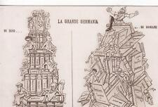 A4309) WW1 SATIRICA, LA GRANDE GERMANIA DI IERI ... DI DOMANI.