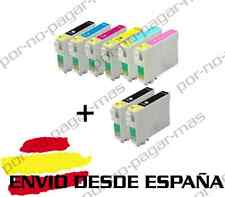 8 CARTUCHOS DE TINTA COMPATIBLE NON OEM PARA EPSON STYLUS PHOTO RX585 T0807