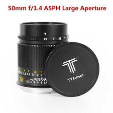 TTArtisan 50mm F/1.4 Manual Prime Large Aperture Lens for Sony E E-Mount Camera