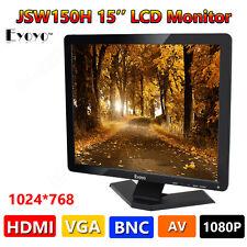 """Eyoyo 15""""Pollici Schermo panoramico 1080P 1024x768 LCD TVCC HDMI HD Monitor AA2"""