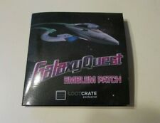 BRAND NEW GALAXY QUEST EMBLEM PATCH - LOOT CRATE EXCLUSIVE
