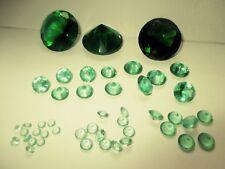 3 Glasdiamanten  hell-lila 8 mm rund facettenschliff synthetisches Kristallglas