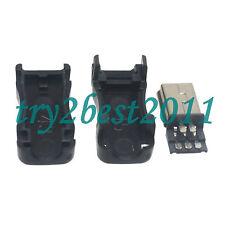 10pcs Mini USB 5 Pin Male Plug Socket Connector&Plastic Cover for DIY