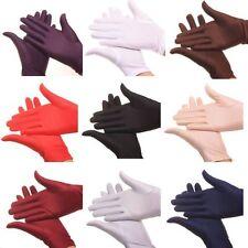 New Lady Womens Satin Short Gloves Wedding Bridal Party Prom Fancy Dress Gloves