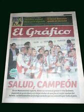 RIVER PLATE CHAMPION 2014 - El Grafico Supplement and Tiempo Argentino newspaper