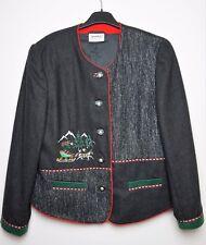 MEICO Landhaus Look Women's Button Front Wool Blend Blazer Jacket Trachtenjacke