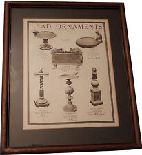 Framed Advertisement Burton Holt's 1937 Chelton Lead Statuary Catalogue