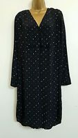 NEW M&S Autograph 8-22 Polka Dot Spotted Black Shift Dress