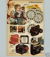 1959 PAPER AD 2 PG View Master Roy Rogers Mickey Mouse Mother Goose Projector