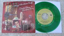 "Elvis Presley  - Merry Christmas Baby -  GREEN VINYL Picture Sleeve 45 rpm PS 7"""