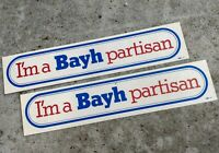 """1976 Birch Bayh Presidential Campaign Stickers Lot Of To 2 1/2"""" x 12"""""""