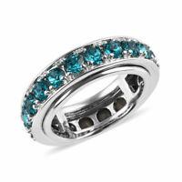 Eternity Band Ring Peridot Cubic Zirconia CZ Jewelry for Women Size 9 Ct 3.4