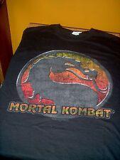 Distressed Style Mortal Kombat M T Shirt Black Dragon New! Free USA Shipping!!