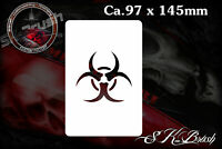 Biohazard Biological Airbrush Schablone - Stencil