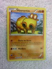 Carte pokémon hippopotas 65/99 commune Noir et blanc Destinées futures