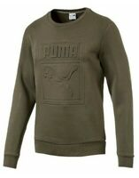 Puma Archive Embossed Logo Crew Sweatshirt Men's Fleece Jumper Green Casual