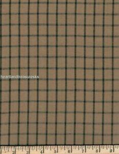Dunroven House H-501   Wheat w/ Black Stripe Homespun Fabric ~ You Pick