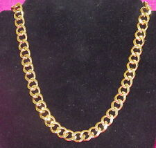 New 18K Yellow Gold Filled Men's 12mm Necklace Curb Link Chain